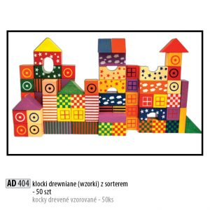 Drevené kocky pre deti AD404