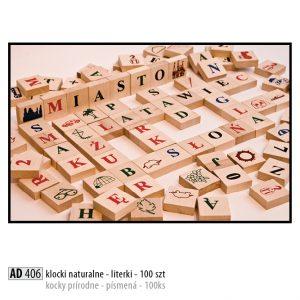 Drevené kocky pre deti AD406