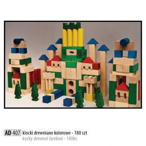 Drevené kocky pre deti AD407