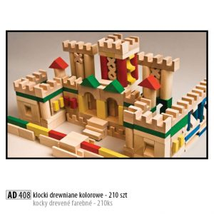 Drevené kocky pre deti AD408