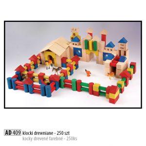 Drevené kocky pre deti AD409