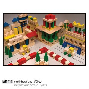 Drevené kocky pre deti AD410