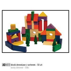 Drevené kocky pre deti AD411
