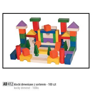Drevené kocky pre deti AD412