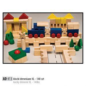 Drevené kocky pre deti AD413