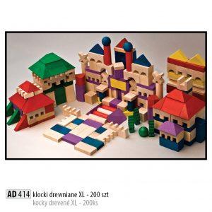 Drevené kocky pre deti AD414